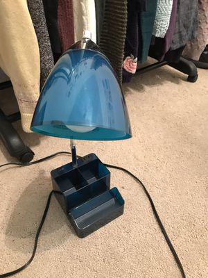 Blue desk lamp & organizer for Sale in Salt Lake City, UT