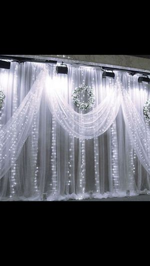 300 LED Window Curtain String Light and (color cool white) for Sale in Rialto, CA