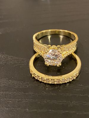 18K Gold plated Ring Set- Code MS001 for Sale in Houston, TX
