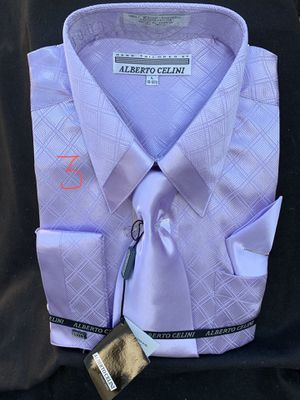 Hand Tailored by ALBERTO CELINI 3pics Shirt for Sale in Alexandria, OH