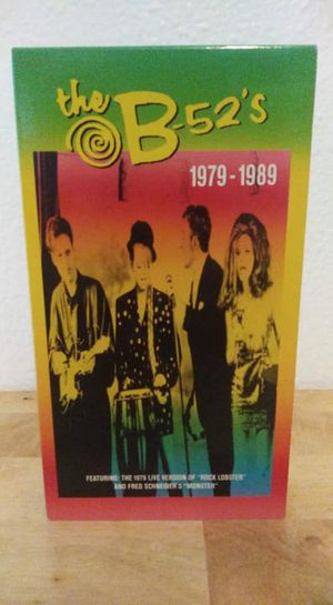The B-52's VHS Tape 1979-1989 Live Music Videos Produced 1990 **10.00 Firm** for Sale in Orlando, FL