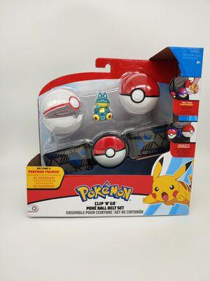 Pokemon Clip N Go Poke Ball Belt Trainer Set Snorlax Figure Pokeball Premier for Sale in Vallejo, CA