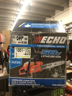 chainsaw. Lithium ion for Sale in South El Monte, CA