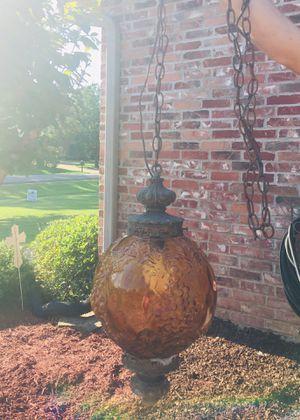 Vintage Amber Handblown Glass Hanging Lamp for Sale in Bossier City, LA