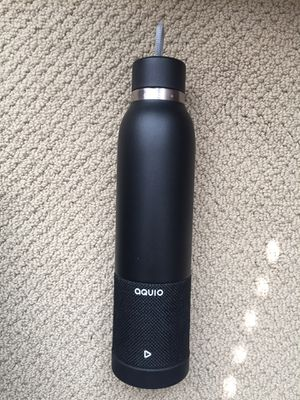 iHome- Aquio IBTB2BB Double-wall steel Insulated Hydration Bottle w/ Rechargeable Bluetooth Wireless Speaker for Sale in Issaquah, WA