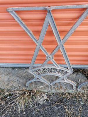 Rare find Vintage machine old table legs Springfield cast metal for Sale in North Attleborough, MA