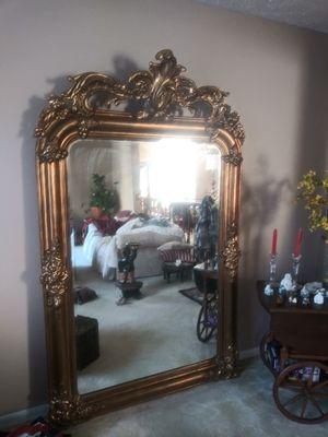 Antique Gold Leaf HUGE wall mirror for Sale in Gaithersburg, MD
