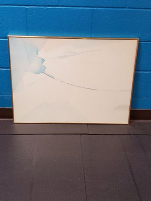 Very Large, Professionally-Framed, Original MODERN WATERCOLOR - firm $ for Sale in Arlington, VA