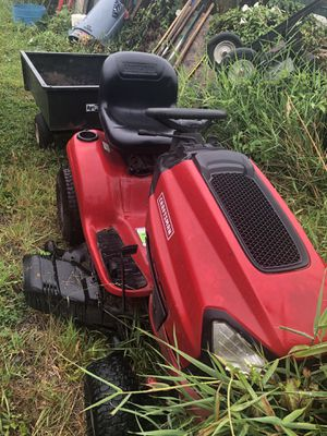 Craftsman riding mower and trailer for Sale in Snohomish, WA