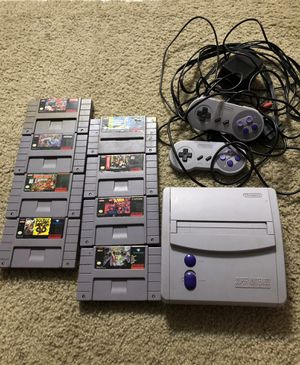 Super Nintendo w/8 Games! cords included for Sale in Portland, OR