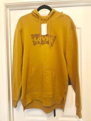 Levi's hoodie, new, size Large L, yellow, mustard color, vintage for Sale in Torrance, CA
