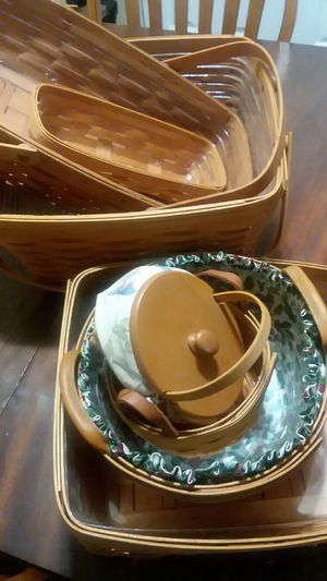 Longaberger Handwoven Baskets (In USA) for Sale in Bloomington, IL