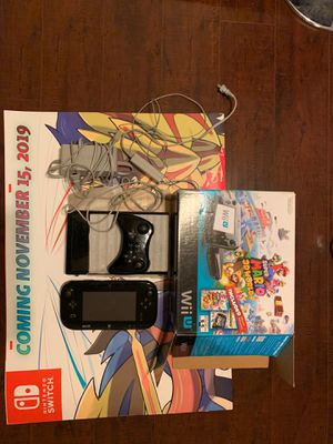 NINTENDO WII U BLACK 32GIG WITH BOX for Sale in Los Angeles, CA