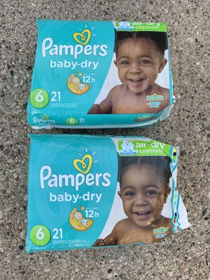 Pampers size 6 deapers for Sale in Park Ridge, IL