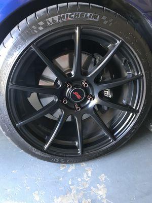black rims and tires for Sale in Manassas Park, VA