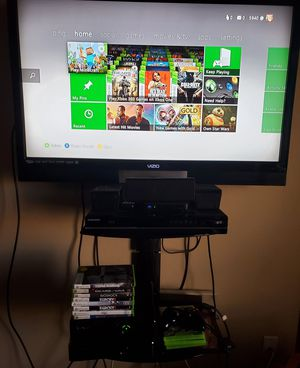 Xbox 360 + games + wireless controller for Sale in Peoria, AZ
