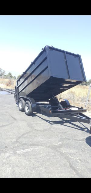 BRAND NEW DUMP TRAILER 8X12X4 12000 LBS,6000 EACH AXLE,ELECTRIC BRAKES,HYDRAULIC SYSTEM, REMOTE CONTROL WITH TITLE IN HAND for Sale in Los Angeles, CA