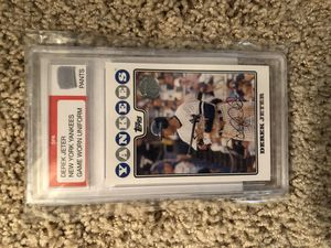 Rookie baseball cards and Derek Jeter game used pants card with COA for Sale in Sun City, AZ