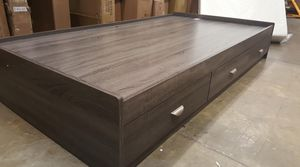 Twin Chest Bed with Headboard, Distressed Grey, Y1101-2F for Sale in Santa Fe Springs, CA