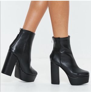 Black Chunky Platform Boots for Sale in Silver Spring, MD