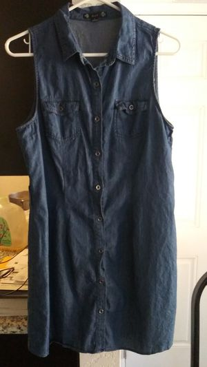 Mid Jean Dress.. Size Large for Sale in Orange Cove, CA