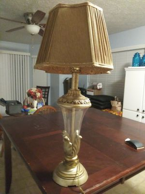 Vintage lamp and lamp shade in great condition for Sale in Indianapolis, IN