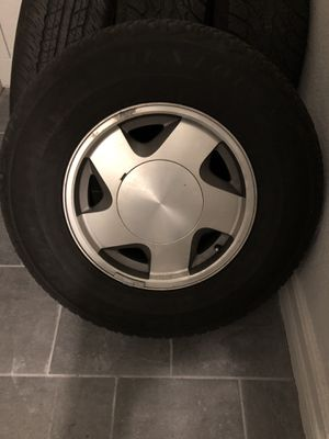 Tires and rims tires have about 80-90% tread 2 have same and other 2 have same tread but all 4 not the same tread for Sale in US