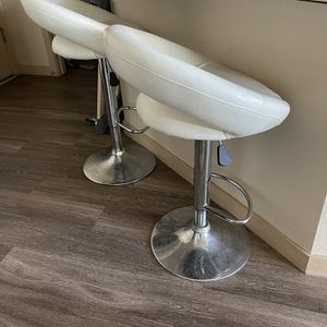 White Leather Bar Stools for Sale in Chandler, AZ
