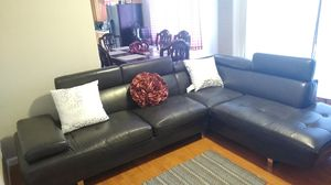 Black Leather Couch for Sale in Hayward, CA