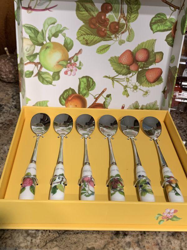 Pomona pastry forks, tea spoons, salad servers