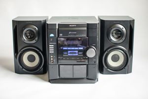 SONY MHC-RG20 3 Disk CD CHANGER Stereo Deck Receiver Cassette AM/FM with Speakers for Sale in Euless, TX