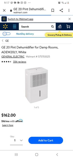 New 20 Pint GE HUMIDIFIER for Sale in Loganville, GA
