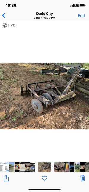 Tractor 3pt farm ranch garden disc 6ft for Sale in Dade City, FL