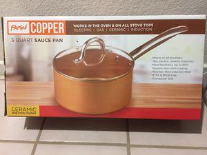 Parini copper 3 qt sauce pan for Sale in Baldwin Park, CA