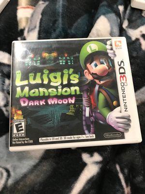 Nintendo 3ds luigis mansion dark moon for Sale in Martinez, CA