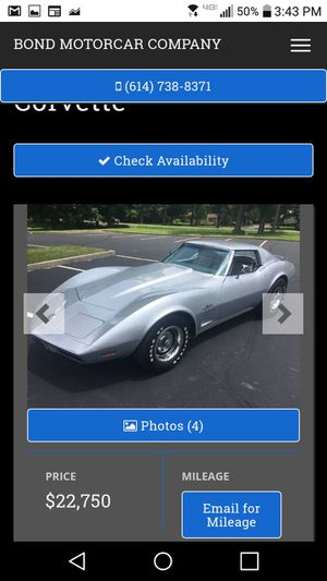1974 Chevy Corvette like new mint condition for Sale in Worthington, OH