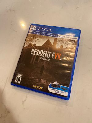 Resident Evil 7 Biohazard PS4 PSVR for Sale in Bonney Lake, WA