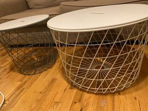 IKEA end tables/storage containers for Sale in Hoboken, NJ