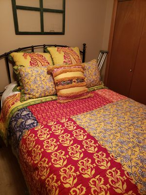 Anthropologie Queen Quilt and Pillow Shams for Sale in Hermiston, OR