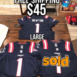 NFL Nike game day New England Patriots #1 Cam Newton navy blue women's jerseys size small and large for Sale in La Puente, CA