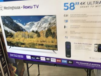 58 INCH WESTINGHOUSE ROKU 4K SMART TV for Sale in Chino,  CA