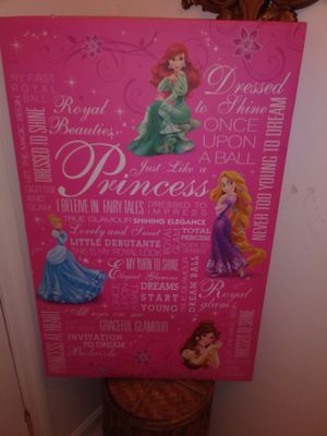 *** 2 Disney's Frozen. Large 24x36 Pics on Canvas in Hot pink*** for Sale in Decatur, GA