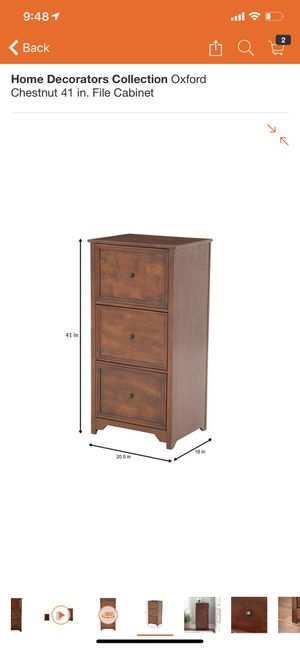 Home Decorators Collection Oxford Chestnut 41 in. File Cabinet for Sale in Bakersfield, CA