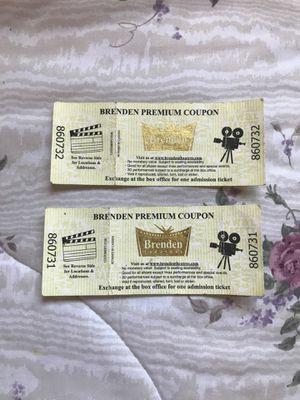 Brenden theatre tickets for Sale in Suisun City, CA