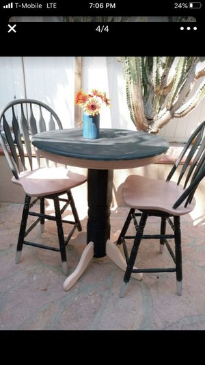 Patio Set: 2 high stool chairs and table! Great for breakfast or coffee time for Sale in Riverside, CA