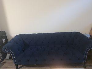 Suede navy sofa for Sale in Atlanta, GA