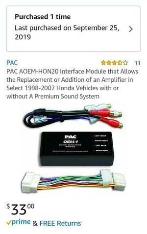 ( Honda ) - ( New ) - Add amplifier to stock radio for Sale in Marion, OH