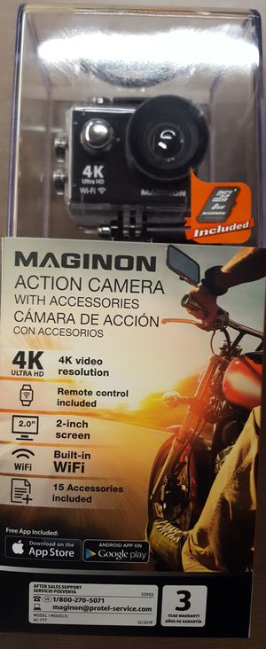 Brand New Maginon Action Camera!! Perfecrb by for Sale in Winston-Salem, NC