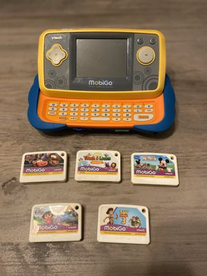 MobiGo Kids Electronics Game 5 game cartridges included for Sale in San Francisco, CA