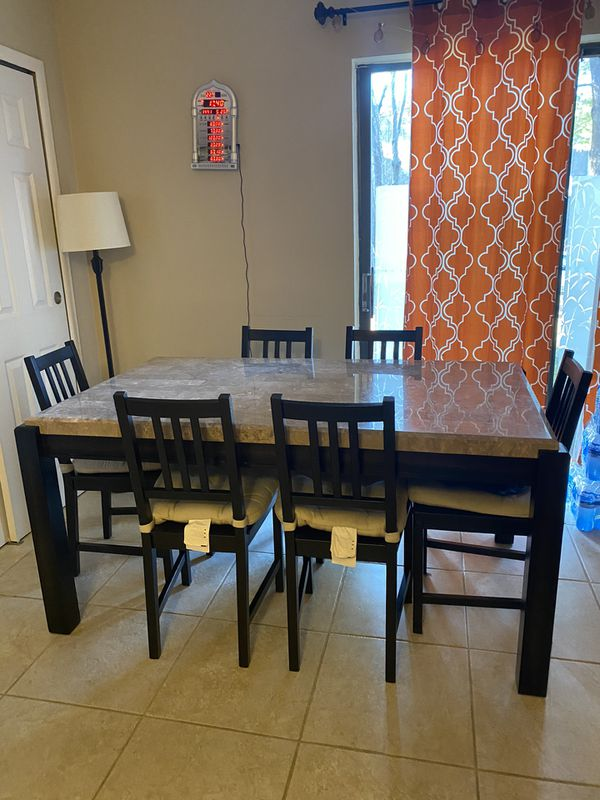 Dinning table 6 chairs